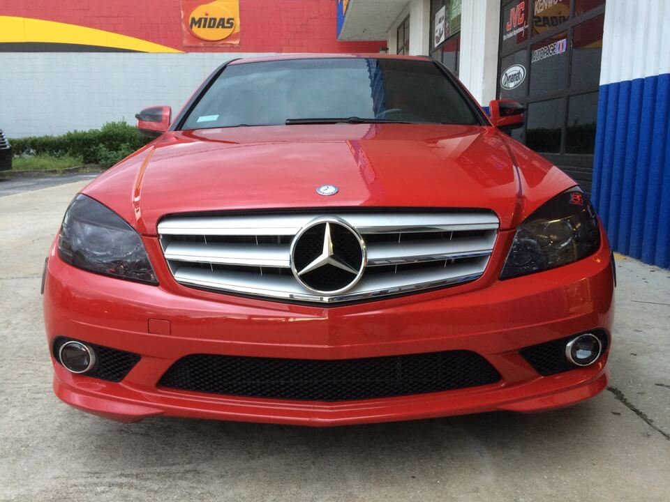 Mercedes c300 tail and head lights tinted to perfection for 2008 mercedes benz c300 tires