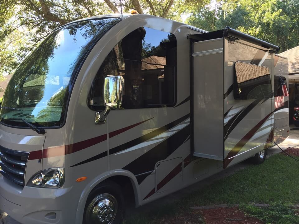 Rv Window Tint Installation Performed At Client S Home