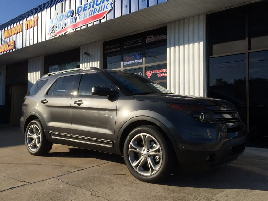 2015 Ford Explorer Halo Lights And Blackouts Window