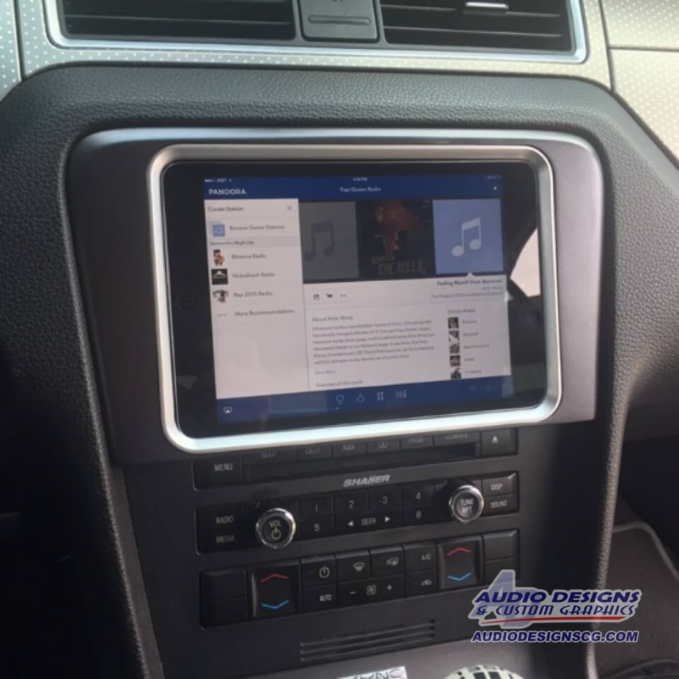 2010 2014 Ford Mustang Tablet Dash Kit