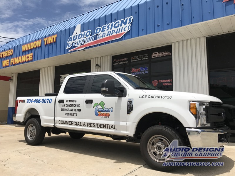 2017 Ford F250 Wrap And Graphics Package Window Tint