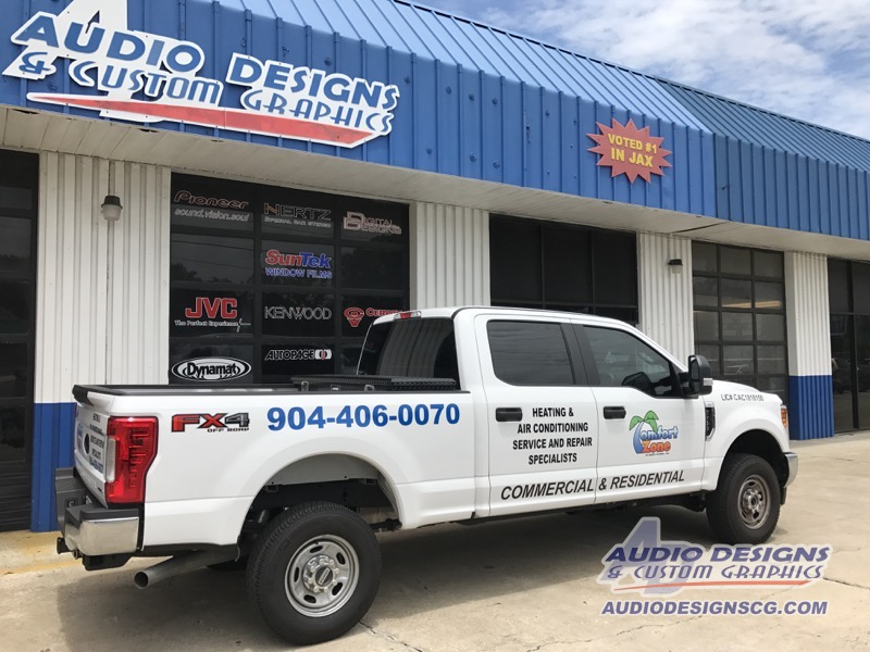 Jacksonville Fl Car Window Wrap >> 2017 Ford F250 Wrap and Graphics Package - Window Tint | Audio Designs & Custom Graphics ...